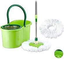 Relaxdays CLASSIC Power Mop with Bucket, Steel
