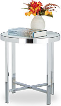 Relaxdays Coffee Table, Hardened, Frosted Glass,