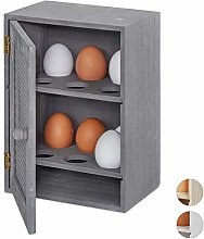Relaxdays Cuddly Egg Cup Cupboard 12 Eggs, Kitchen