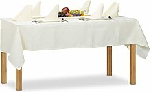 Relaxdays Damask Tablecloth 135 x 180 cm Table
