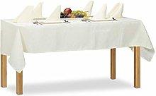 Relaxdays Damask Tablecloth Set, 135 x 180 cm