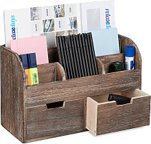 Relaxdays Desk Organiser, 6 Compartments, 2