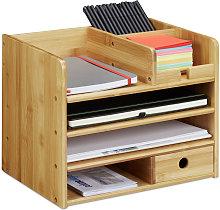 Relaxdays Desk Organiser, A4 Letter Tray, Keep