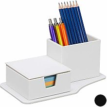 Relaxdays Desk Organiser for Notes & Pencils, More