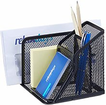 Relaxdays Desk Organiser Mesh Metal Pen Holder