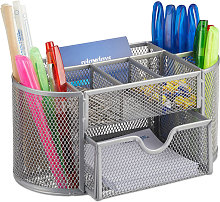 Relaxdays Desk Organiser, Stationery Tray with Pen