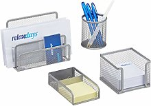 Relaxdays Desk Organiser with Letter Rack/Pen Note