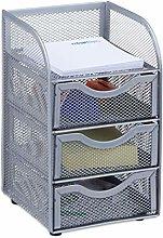 Relaxdays Desk Organizer Mesh Storage Box, File