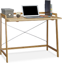Relaxdays Desk Wood, Modern Computer Table With