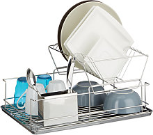 Relaxdays Dish Drainer, With Cutlery Basket, Drip