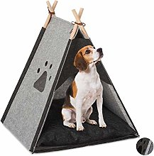 Relaxdays Dog Tent, Large Teepee Retreat for Cats,