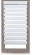 Relaxdays Double Blinds, Klemmfix without Drilling, Side-Pull Shades, Duo Roller Blinds for Windows, Fabric, 60x150 cm, White