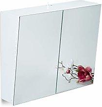 Relaxdays Double-Door Bathroom Mirror Cabinet with