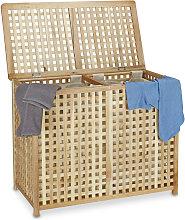 Relaxdays Double Laundry Hamper Laundry Basket 2