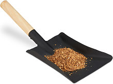 Relaxdays Dustpan with Wooden Handle, Fireplace