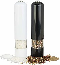 Relaxdays Electrical Pepper Mill with Light, Set