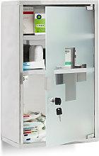 Relaxdays EMERGENCY Medicine Cabinet XL, Stainless