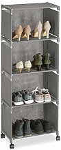 Relaxdays Fabric Shoe Rack for 8 Pairs, 5 Tiers,