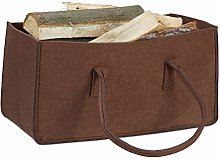 Relaxdays Felt Firewood Basket, Portable Magazine