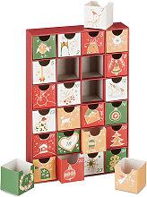 Relaxdays Fillable Advent Calendar, 24 Boxes,