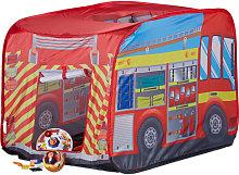 Relaxdays Fire Brigade Play Tent, Pop Up Fire