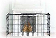 Relaxdays Fireplace Screen, Spark Guard, Steel