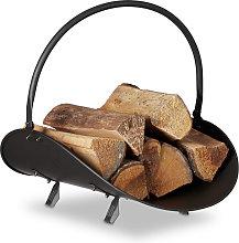 Relaxdays Firewood Basket, Large Fireplace Wood