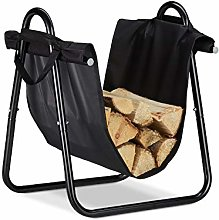 Relaxdays Firewood Basket with Carry Bag, Large