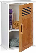 Relaxdays Floating Bathroom Cabinet, WC, Hanging,