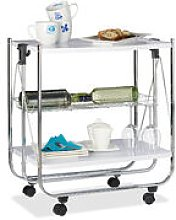 Relaxdays Foldable Serving Trolley, 4 Wheels, 2
