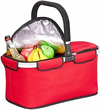 Relaxdays Foldable Shopping Basket with Cooling