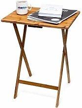 Relaxdays Folding End Table, 68 x 48 x 38.5 cm,