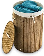 Relaxdays Folding Round Laundry Basket, 41 cm