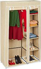 Relaxdays Folding Wardrobe VALENTIN XL Sturdy