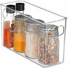 Relaxdays Fridge Organiser, Slim Kitchen Basket