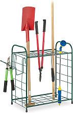 Relaxdays Garden Tool Rack, Outdoor Storage for