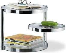 Relaxdays Glass Coffee Table With Swivel Tray, 3