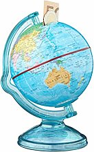 Relaxdays Globe Savings Box, HxWxD: 16.5 x 14 x 14