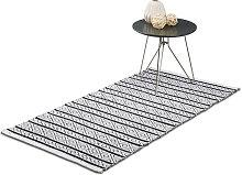 Relaxdays Hallway Carpet Rug, 70 x 140 cm, Cotton,