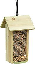 Relaxdays Hanging Birdhouse, Wooden, No Stand, HxWxD: ca 26 x 15 x 15 cm, Bird Feeder, Green