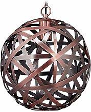 Relaxdays Hanging Lamp, Sphere Lampshade,
