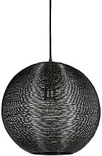 Relaxdays Hanging Lamp with Metal Wire Mesh, Round