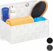 Relaxdays Hanging Storage Basket, Bathroom