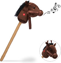Relaxdays Hobby Horse with Neighing & Galloping