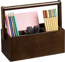 Relaxdays Holder, Bamboo Desk Organiser with