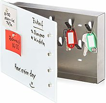 Relaxdays Key Cabinet with Glass Magnetic Board 20