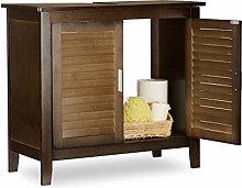 Relaxdays LAMELL Dark Brown Under-Sink Cabinet,