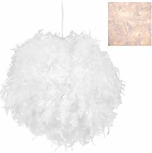 Relaxdays Large Feathered Pendant Lamp for Nursery