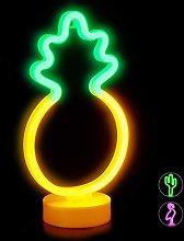 Relaxdays LED Pineapple Light, Decorative Neon