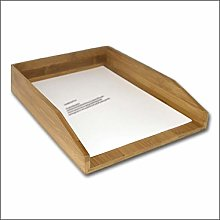Relaxdays letter tray bamboo, desk tray for A4